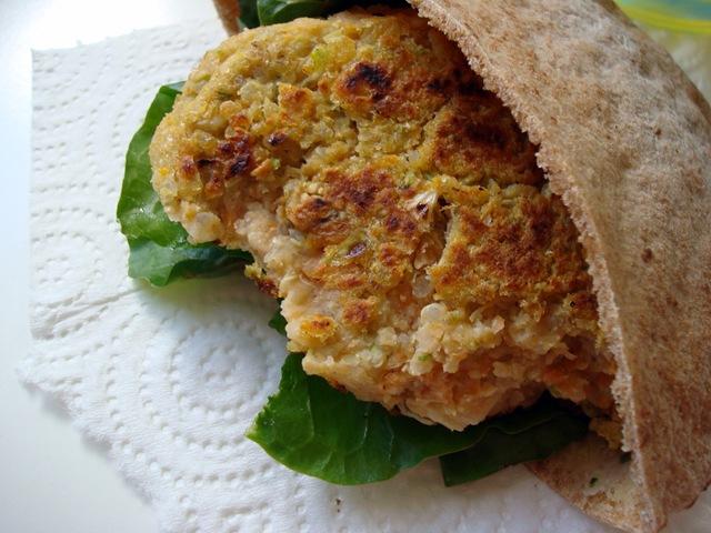 low-fat (Greek-style) quinoa burgers.