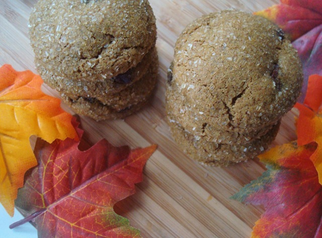 sparkling ginger chip cookies {& a winner}.