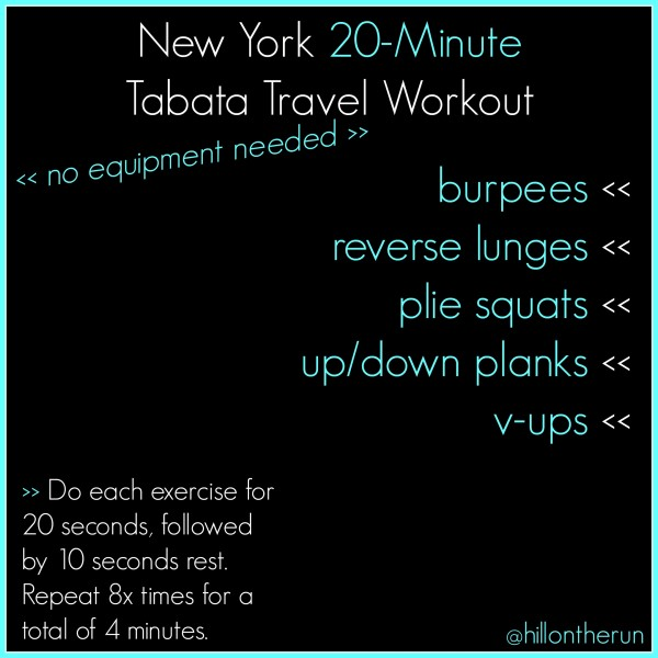 20-minute Tabata Travel Workout