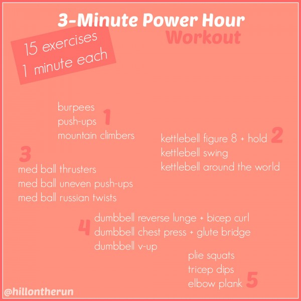 3-Minute Power Hour Workout