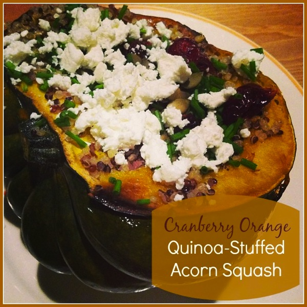 Cranberry Orange Quinoa-Stuffed Acorn Squash
