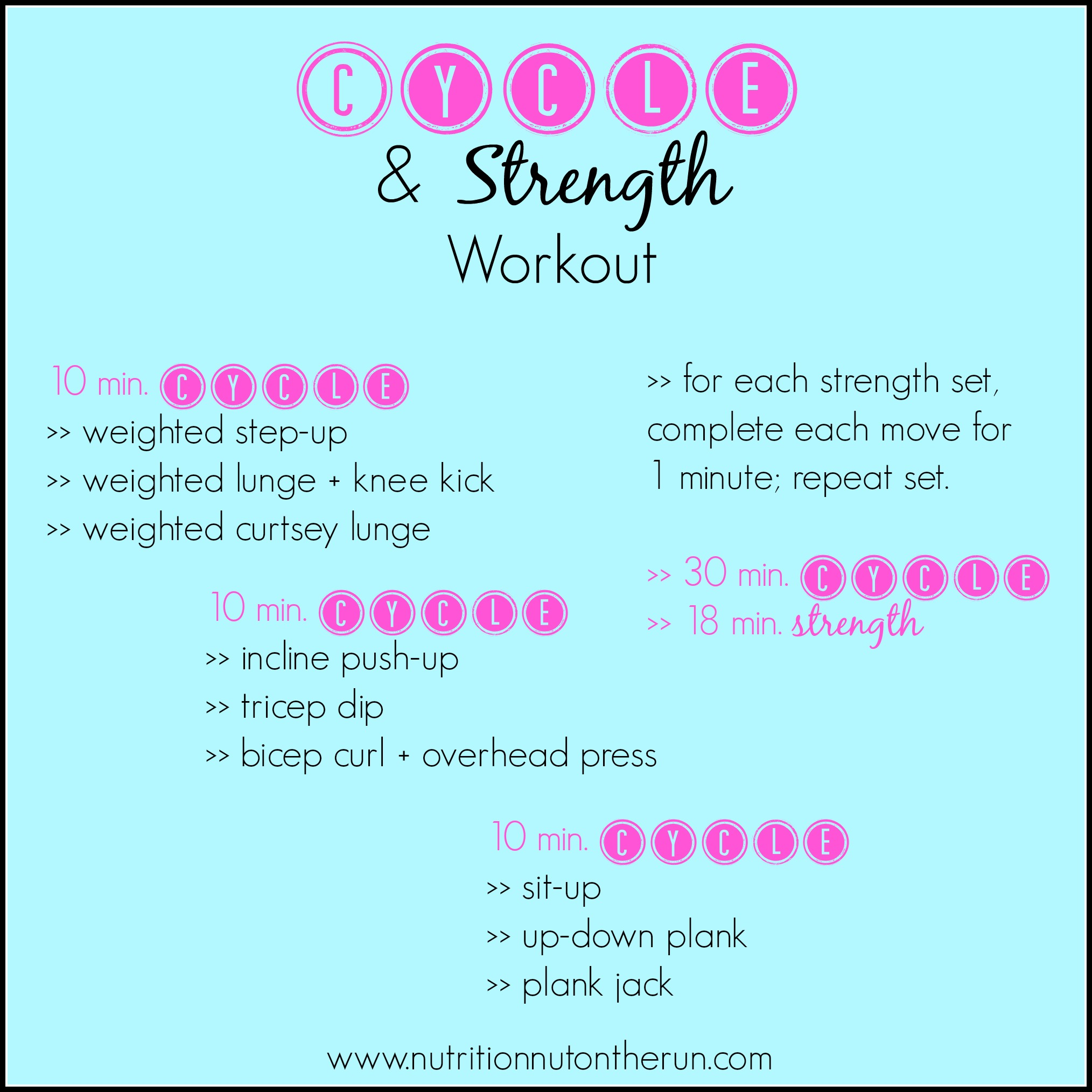 Strength Training: Cycle & Strength Workout