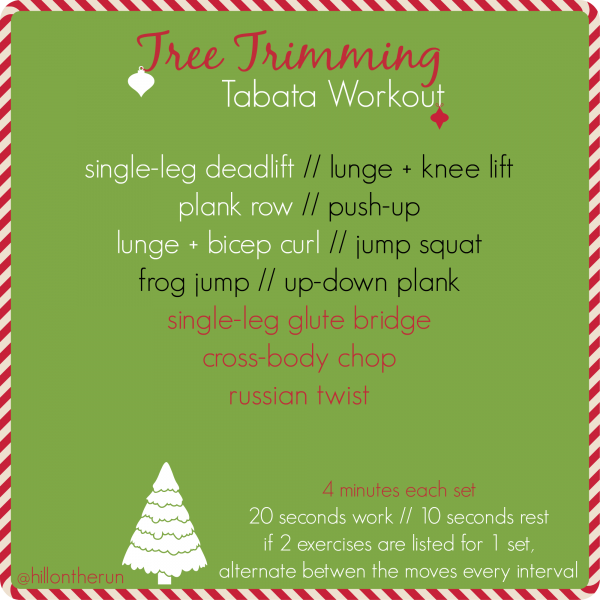 Tree Trimming Tabata Workout