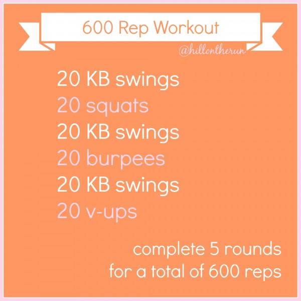 600 Rep Workout