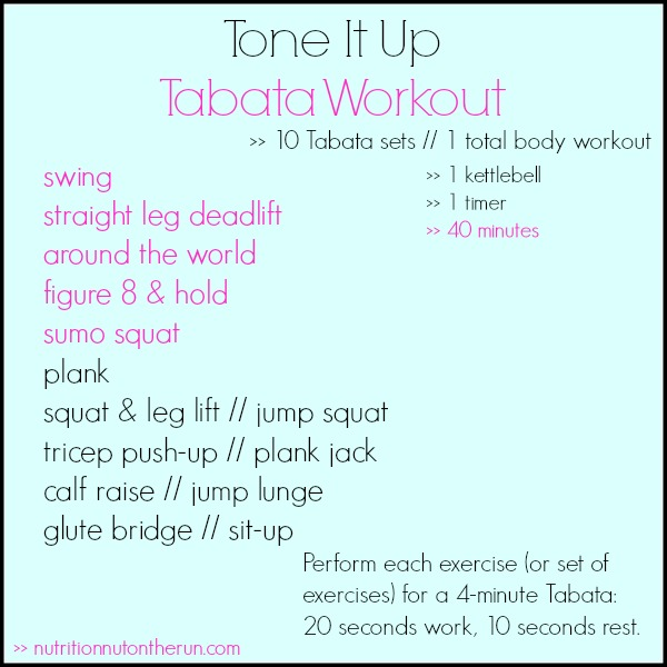 Tone It Up Tabata Workout