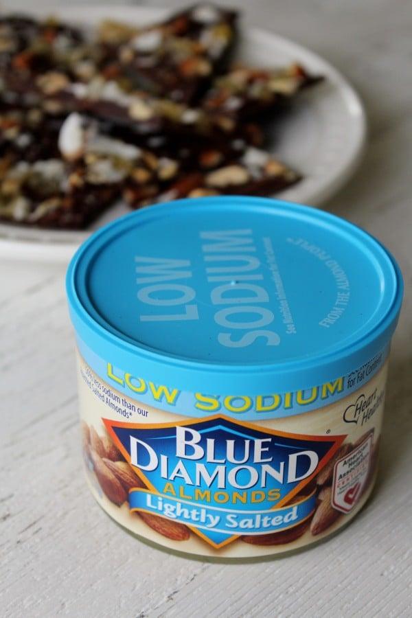 Dark Chocolate Almond Bark with Coconut & Ginger