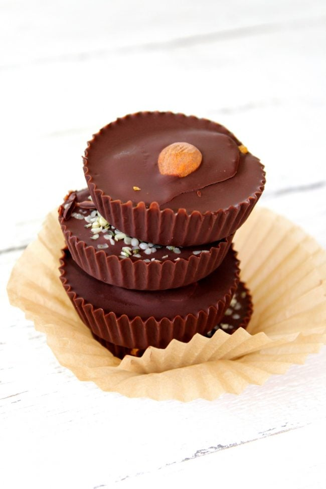 Dark Chocolate Pumpkin Almond Butter Cups