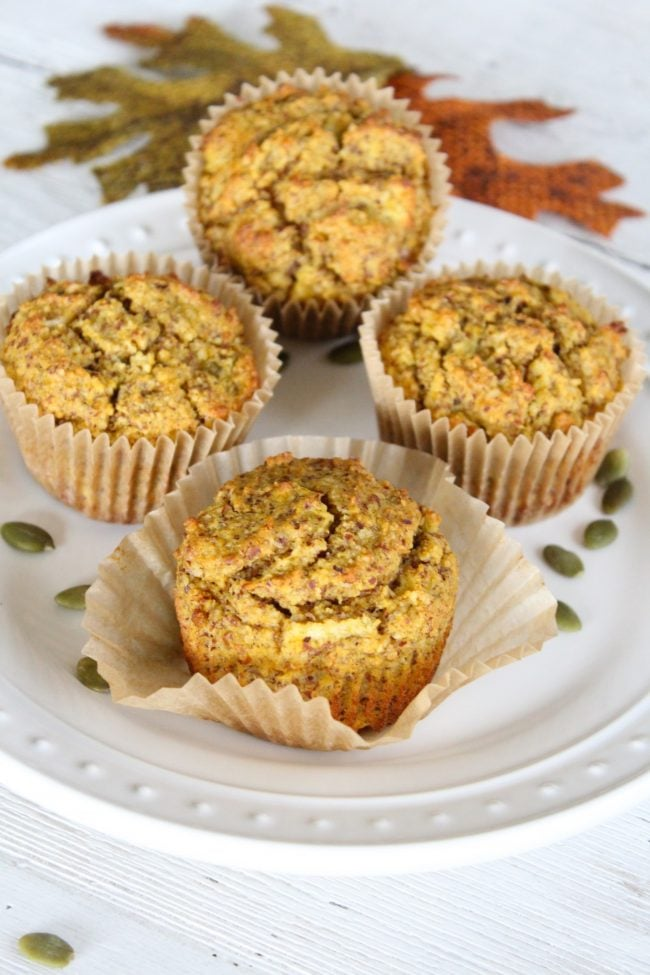 Grain-Free Apple Pumpkin Muffins