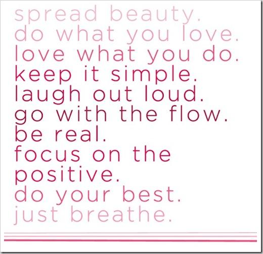 spread beauty