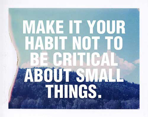 Quote small things