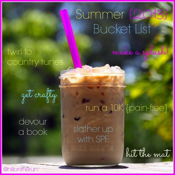 2013 summer bucketlist