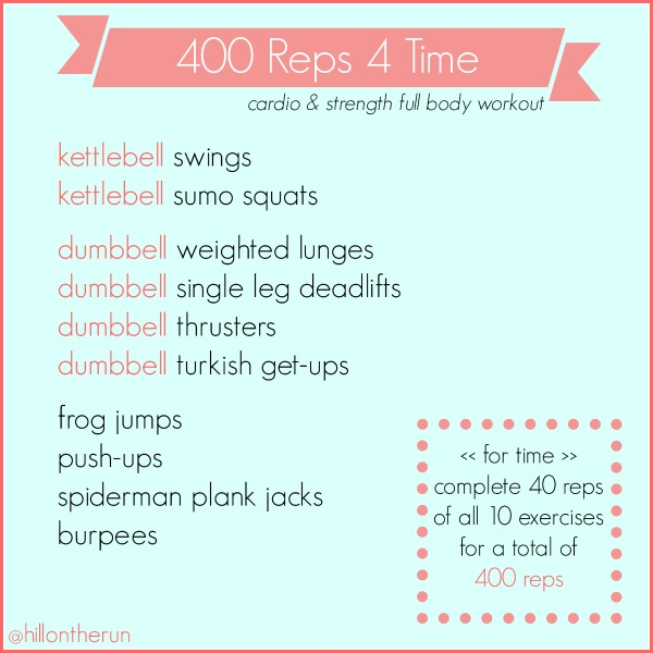 400 Reps for Time Workout