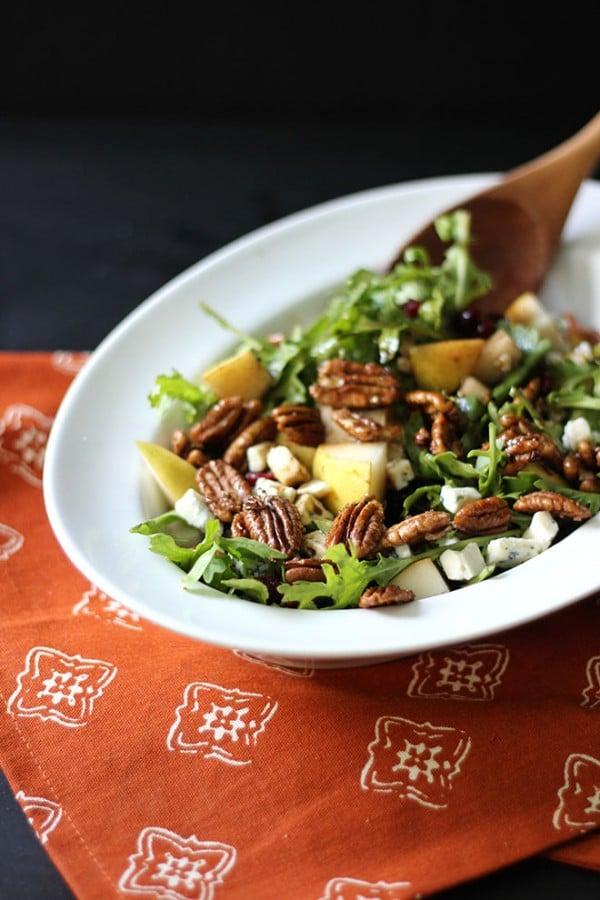 Pear-Arugula-Pecan-Salad