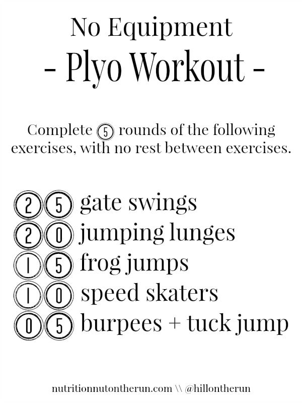 no equipment plyo workout. Black Bedroom Furniture Sets. Home Design Ideas