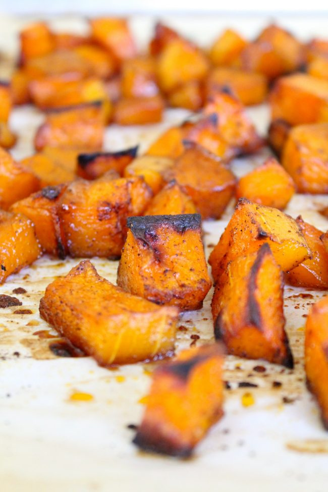 Maple Chili Roasted Butternut Squash